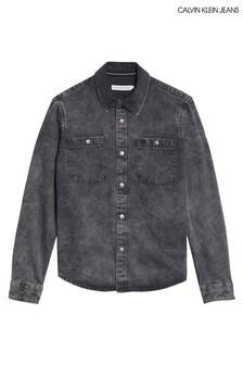 Calvin Klein Grey Denim Shirt
