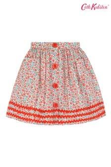 Cath Kidston® Cream Ashbourne Ditsy Button Down Skirt