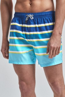 Ombre Stripe Swim Shorts