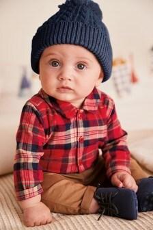בגד גוף חולצת משבצות (0 חודשים עד גיל 2)