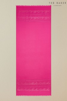 Ted Baker Estrell Langer Schal mit Metallfäden und Logo