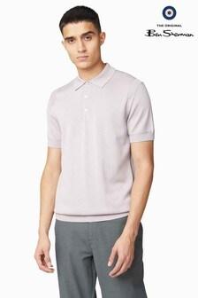 Ben Sherman Lilac Signature Cotton Short Sleeve Polo
