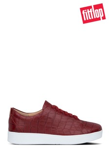 FitFlop™ Red Rally Croc Print Sneakers