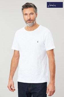 Joules White Denton Crew Neck T-Shirt