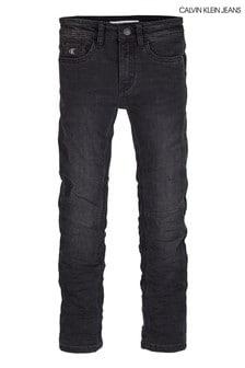 Calvin Klein Chalk Black Slim Jeans