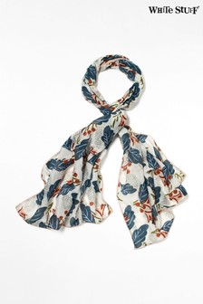 White Stuff White Lucia Cotton Silk Scarf