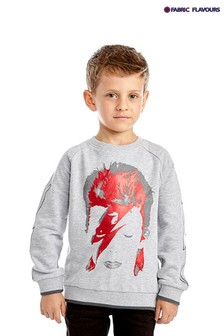 Fabric Flavours Grey David Bowie Sweatshirt