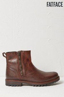 FatFace Brown Cheshire Biker Boots