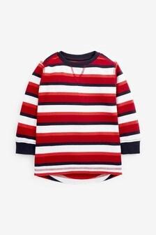 חולצת טי עם פסים מבד ארוג עם שרוול ארוך (3 חודשים עד גיל 7)