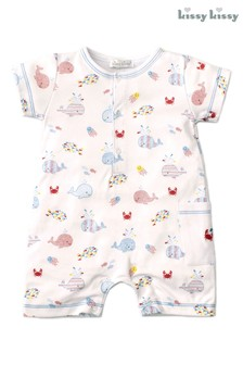 Kissy Kissy White Whale Of A Time Playsuit