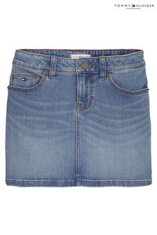 Tommy Hilfiger Blue Ocean Light Denim Skirt