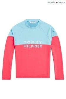 بلوزة واقية متينة Tommy وردية من Tommy Hilfiger