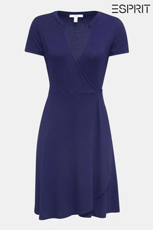 Esprit Blue Wrap Dress