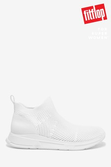FitFlop™ White max Flexknit Trainers
