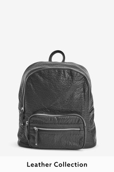 Leather Look Rucksack