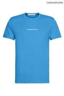 Calvin Klein Jeans Blue Institutional Chest Logo T-Shirt