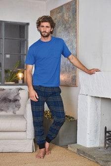 Check Woven Cuffed Pyjama Set