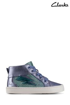 Clarks Lilac Leather City Myth Boots