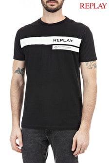 Replay® Gestreiftes T-Shirt mit Logo