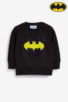 Batman® Superman Flippy Sequin Crew Neck Top (9mths-8yrs)