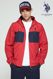 U.s. Polo Assn. Red Colourblock Hooded Jacket (277411) | $97