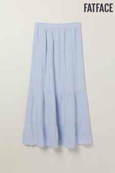 FatFace Blue Evelyn Stripe Maxi Skirt