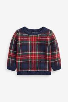 Tartan Knitted Jumper (3mths-7yrs)