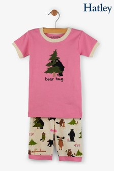 Hatley Pink Bear Hug Kids Short Pyjama Set