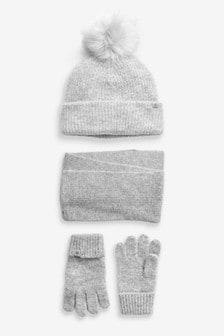 قبعة وقفازات ووشاح (3-16 سنة)
