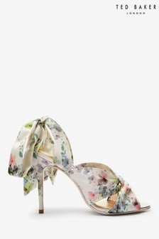 Ted Baker White Print Heel Shoes