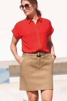 Twill Mini Skirt