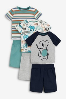 Kurze Pyjamas, 3er-Pack (9Monate bis 12Jahre)