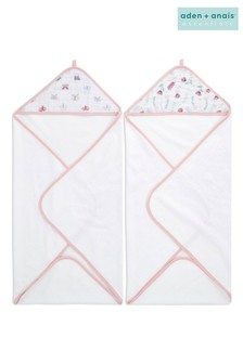 aden + anais Safari Babes Essentials Hooded Towels Two Pack