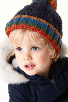 Cable Pom Beanie Hat (Younger)