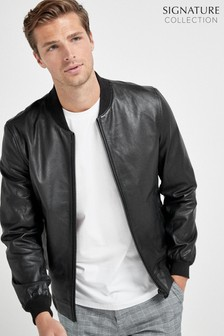 Signature Leather Bomber Jacket