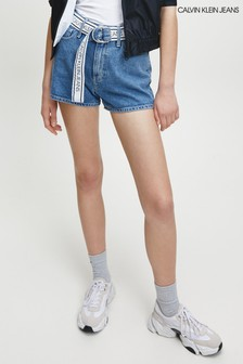 Calvin Klein Blue High Waisted Shorts