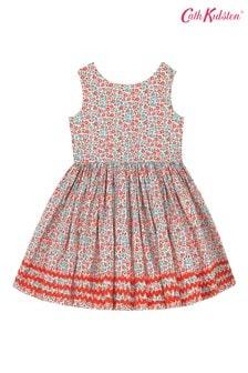 Cath Kidston® Cream Ashbourne Ditsy Charlotte V-Back Dress