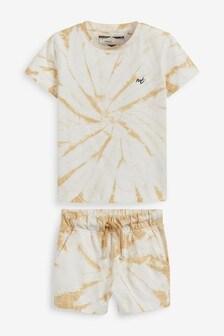 Komplet: cieniowana koszulka i legginsy (3m-cy-7lata)