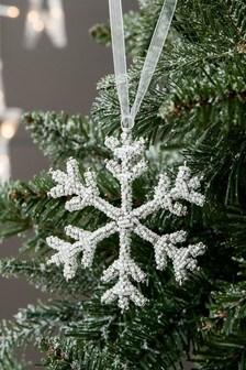Beaded Snowflake Bauble (278227)   $6