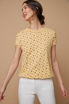 T-Shirt mit Ballonsaum
