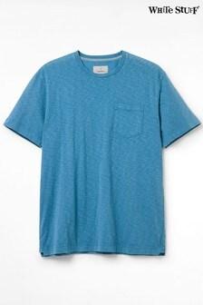 White StuffPflanzlich gefärbtes T-Shirt mit Tasche, Blau