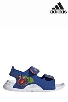 Sandales de bain adidas bleues