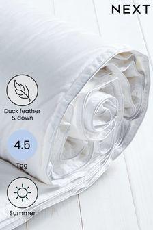 4.5 Tog Duck Feather 10.5 Tog Duvet