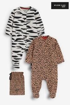 מארז2 חליפות שינה מכותנה אורגנית לתינוקותשלMyleene Klass