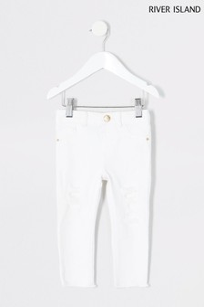 River Island White Molly Ripped Jeans