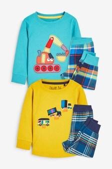 Kárované pyžamo, 2 ks (9 mes. – 10 rok.)