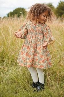 فستان مطرز مشجر (3 شهور -7 سنوات)