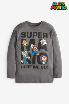 Mario Long Sleeve T-Shirt (3-16yrs)