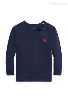 Темно-синяя футболка с логотипом Ralph Lauren