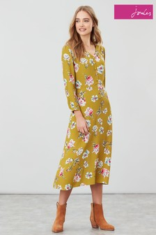 Joules Darcey Gold Floral Dress
